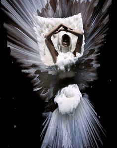 Alexander McQueen's A/W 09 'Horn of Plenty' brought to life with 3D technology- Still from fashion film by Nick Knight