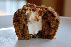 Pumpkin cream cheese muffin. These would be perfect for breakfast (and lunch and dessert...)!(Pumpkin Muffin Products)