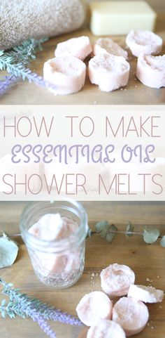 Shower Melts Recipe Simple Shower Melt Recipe using Essential OilsSimple Shower Melt Recipe using Essential Oils Doterra Essential Oils, Essential Oil Blends, Essential Oil Storage, Diy Peeling, Shower Bombs, Bath Bombs, Bath Melts, Pure Oils, Natural Cleaning Products