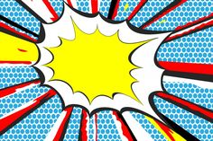 BANG Pop Art Mural Wallpaper, custom made to suit your wall size by the UK's for wall murals. Custom design service and express delivery available. Comic Book Yearbook, Yearbook Covers, Comic Book Style, Comic Books Art, Comic Art, Book Art, Art Mural, Wall Murals, Pop Art Background