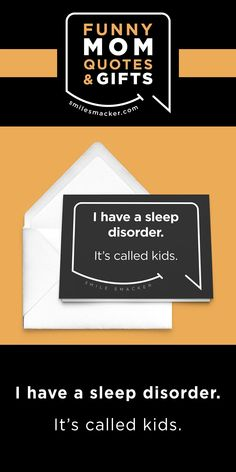 Mom's sleep disorder ~ Smack this quote onto Greeting Cards & more. We're here to send a smile your way when #momlife gets crazy! Find your #smilestyle at smilesmacker.com Birthday Gift For Wife, Happy Birthday Wishes, Make Up Your Mind, Lose My Mind, Mommy Finger, Motherhood Funny, Mom Cards, Funny Mom Quotes, Funny Christmas Cards