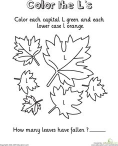 worksheets l coloring page leaftastic