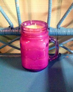 Mason Jar 16 oz. Candle Blueberry Soy Candle by MaidenLongIsland