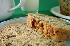 Zucchini bread (I replaced nuts with chocolate chips and unsweetened coconut flakes). Delicious!
