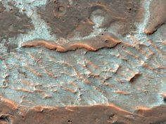 Picture of salt deposits on Mars