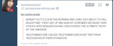 Reading Tumblr Late At Night Gets Deep, Weird and Funny » RYOT News