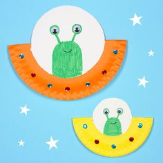 Space crafts for kids, paper plate crafts for kids, crafts Paper Plate Art, Paper Plate Crafts For Kids, Paper Plates, Space Crafts Kids, Daycare Crafts, Toddler Crafts, Kid Crafts, Easy Crafts, Spaceship Craft