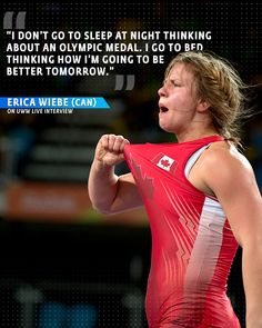 Erica Wiebe on UWW Live Interview Olympic Wrestling, Wrestling Quotes, Golf Tiger Woods, Olympic Medals, Golf Quotes, Tomorrow Will Be Better, Golf Humor, European Football, Disc Golf