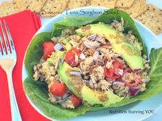 35 Yummy Nutritionist-Approved Ways to Eat Canned Tuna- @womenshealthmag featured: Balsamic Tuna Sorghum Salad by @LaurenPincusRD