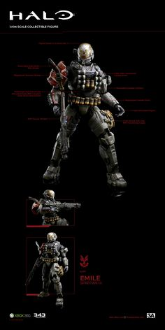 Would look great with Carter, lets hope they make the rest of Noble team. Halo Tattoo, Halo Spartan, Halo Armor, Combat Armor, Halo Reach, Popular Kids Toys, Red Vs Blue, Sci Fi Weapons, Super Robot