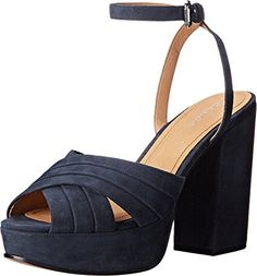 COACH Women's Nikeeta Midnight Navy Lux Suede Sandal
