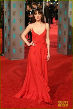 Dakota Johnson Gets Rebel Wilson's Support at BAFTAs 2016!: Photo #3578020. Dakota Johnson is ravishing in red while walking the carpet at the 2016 EE British Academy Film Awards held at the Royal Opera House on Sunday (February 14) in London,…