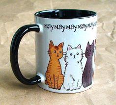 """Чашка """"Мяу-мяу"""" 350 мл керамика, сублимационная печать 12$"""