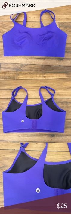 Lululemon Sports Bra 36DD In excellent used condition.  It is purple but appears more blue in picture.  I am open to reasonable offers or check out my closet for a bundle discount. 🤗👍🏻 lululemon athletica Intimates & Sleepwear Bras