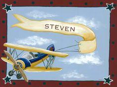 Vintage Bi-Plane Canvas Wall Art - Jack and Jill Boutique