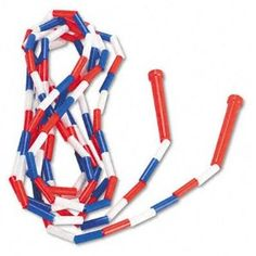 Jump Rope, covered in plastic tubes. Made great noise when hitting the ground and great pain when hitting us!