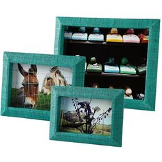 Serena & Lily Woven Raffia Frames – Turquoise (40 CAD) ❤ liked on Polyvore featuring home, home decor, frames, picture frames, decor, fillers, borders, turquoise home accessories, serena & lily and colored frames