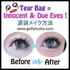 Global Fashion Trend may try it one day soon :P.  Gyaru Makeup Trend: Tear Bag Tutorial