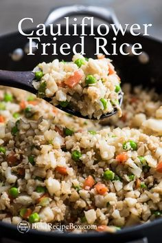 Cauliflower Fried Rice Recipe is Healthy and Amazing! | @bestrecipebox