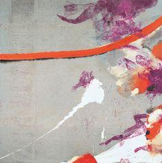 """Julian Schnabel End of Summer I  oil, gesso on grey tarpaulin, 192 x 192"""", 1990"""