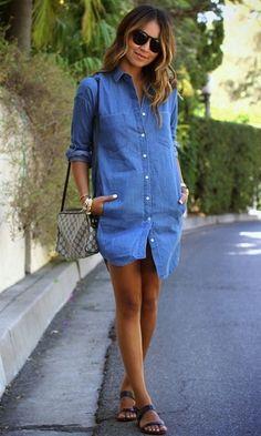 Look: Vestido Camisa