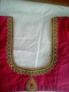 Com Best 12 Blouse design – SkillOfKing.Com Wedding Saree Blouse Designs, Best Blouse Designs, Simple Blouse Designs, Silk Saree Blouse Designs, Blouse Neck Designs, Traditional Blouse Designs, Hand Work Blouse Design, Aari Work Blouse, Maggam Work Designs