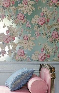 That Marie Antoinette Inspired Wallpaper