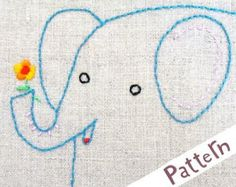 M Monkey INSTANT DOWNLOAD PDF embroidery pattern por penguinandfish