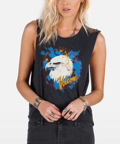 Look at this Vintage Black Tees Me Tank on #zulily today!