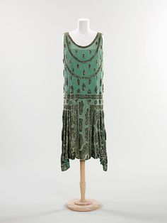 Beaded Evening Dress, 1925  via The Met