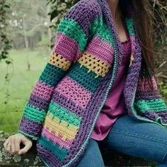 Crochet Coat, Crochet Winter, Crochet Cardigan Pattern, Crochet Shirt, Crochet Jacket, Crochet Clothes, Knitting Patterns, Crochet Patterns, Irish Crochet