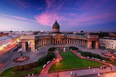 The Kazan Cathedral. Saint-Petersburg. Russia