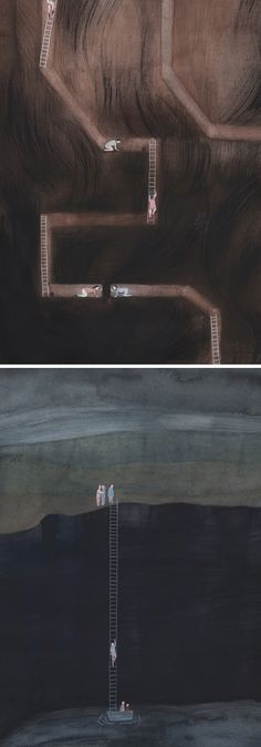 Quiet illustrations by Sandra Rilova // painted illustration // illustration art