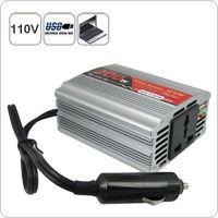 Multifunctional 200 Walt DC 12V to AC 110V and to USB DC 5V Car Power Inverter
