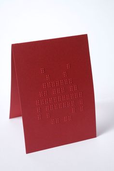 // Cards that you can feel! // Embossed pattern blank inside for your own message or customised Braille message according to the customer. //