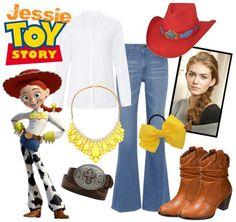 """Jessie from Toy Story Halloween Costume"" Jessie Halloween Costume, Quick Halloween Costumes, Disney Halloween, Family Halloween, Halloween 2019, Woody And Jessie Costumes, Easy Halloween, Halloween Outfits, Halloween Decorations"
