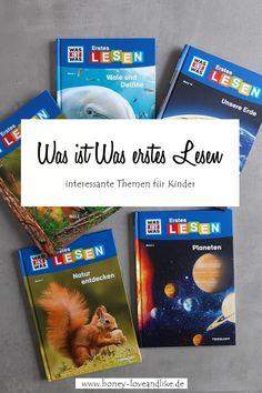 Was ist Was erstes Lesen - 5 weitere Bücher mit tollen Themen   Honey-loveandlike.de   Lifestyleblog Humor, Cover, Books, Treasures Reading, Worth It, Parenting, Primary School, Reading, Libros