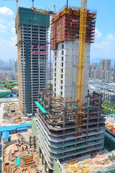 56 flr Yuyang Tower | 260m | Fuzhou, China (2012) Civil Engineering Works, Civil Engineering Construction, Construction Safety, Commercial Construction, Concrete Formwork, Concrete Stairs, World Of Concrete, Steel Building Homes, Architecture Details