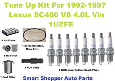 Lexus SC400 Complete OEM Tune-Up Filter Kit  1992 to 1994