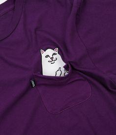 Rip N Dip Lord Nermal Pocket T-Shirt - Plum