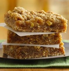 Betty members love this crazy-easy apple bar recipe, complete with gooey caramel. They also love that they're easy to make with kids. For easier cleanup, skip the cooking spray and line the pan with foil!