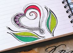 Art Journal - Zenspirations Heart with Leaves by Pink Palindrome, via Flickr