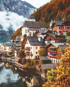 Hallstatt, Austria, in the fall