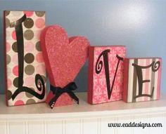 Love Blocks. I like the idea of using the heart as an o!