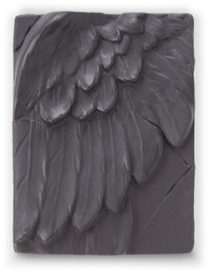 'Wing' All black 6x8 Memory Block  Part of the Midnight Collection from Sid Dickens
