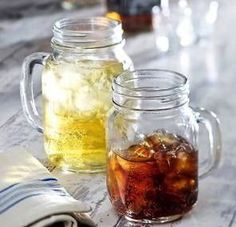 24x Tennessee Handled Jam Jar Drinking Glass Jermiah Weed style Jars 15oz.