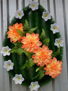 Funeral Flowers, Tropical Flowers, Flower Decorations, Floral Arrangements, Garland, Floral Wreath, Hair Accessories, Easter, Wreaths