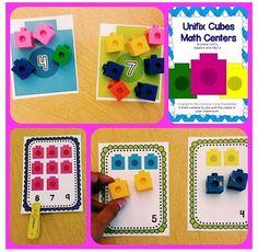 Unifix Cubes Math Centers - Apples and ABC's: August 2013