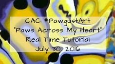 "Fluid Acrylic Pour REAL TIME TUTORIAL #PawgustArt ""Paws Across My Heart"" Heart Real, My Heart, Dot Day, Virtual Art, Fluid Acrylics, Acrylic Pouring, Alcohol Inks, Create, Youtube"