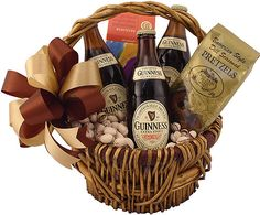 Guinness Beer Gifts – Including Gift Baskets, Boxes & More! Gifts For Beer Lovers, Beer Gifts, Guinness Gifts, Beer Christmas Gifts, Christmas Crafts, Beer Basket, Basket Gift, Seasoned Pretzels, Boyfriend Gift Basket